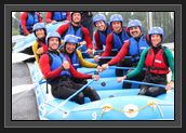 Image of Ryan and Canadian Canoe Kayak Team Members Having Fun in London Whitewater Rafting