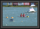 Image of Ryan and Hugues at Starting Gate During the K2 200m at the 2011 World Championships
