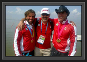 Thank You to the COC for Their Support at Pan Am Games (From Left to Right: Hugues, Roger Archambault (COC) and Ryan)