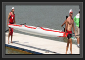Image of Ryan And Hugues Heading to Boat Control After Their Heat