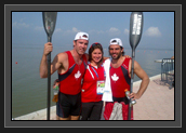 Image of Ryan and His Partner After Winning Gold (From Left to Right: Ryan, Christine Bain and Hugues)