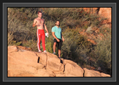 Image of Ryan and Hugues in Colorado During a Run (Photo By: Bernie Irvin)