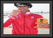 Image of Ryan With His Gold Medal