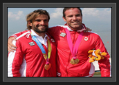 Image of Ryan and Hugues After Receiving Their Gold Medals