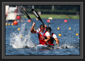 Image of Ryan and Hugues During K2 200m Final at World Cup 1 in Poznan, Poland