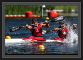 Image of Ryan and Hugues at World Cup 2 in Duisburg, Germany During K2 200m