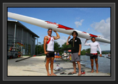 Image of Ryan, Fred and Hugues holding Olympic K2
