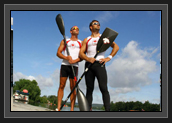 Image of Ryan and Mark Oldershaw in France before the Olympics