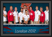 Image of Canada's canoe and kayak flatwater team pause for a group photo following a press conference at Dorney Lake, August 3, 2012. Canoe and kayak events start August 6th at the 2012 London Olympics. THE CANADIAN PRESS/HO, COC – Jason Ransom