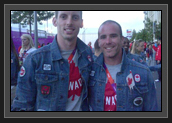 Image of Ryan Cochrane Swimmer (LEFT), Ryan Cochrane Kayaker (RIGHT) who finally get to meet before closing ceremonies