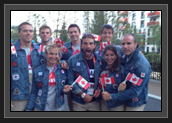Image of Canoe/Kayak Canadian Team before Closing Ceremonies