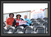 Image of Big Supporters Jim, Debbie and Barbie with their support sign for Ryan at Eton Dorney in London