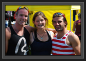 Image of Ryan and Hugues spending time with athletes at Nationals; Centre in picture is Drella