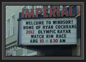 Image of Sign at the Imperial Theater in Windsor, Nova Scotia