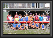 Image of Group photo in front of the Pisiquid Canoe Club in Windsor of Ryan and athletes