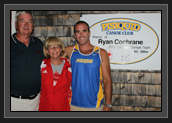 Image of Kim, Wendy and Ryan Cochrane at the Pisiquid Canoe Club