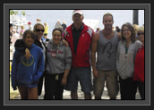Image of Ryan at Lake Banook during Canadian Championships with Pisiquid Canoe Club parents and athletes and his parents