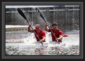 Image of Ryan and Richard in the K2 200m (photo: Balint Vekassy)