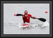 Image of Ryan in the K1 200m Relay (photo: Balint Vekassy)
