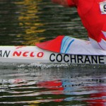 Picture of Ryans name on the side of boat during K2 200m (Photo: Lizzy Bates)