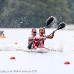 Ryan and Marc-Alexandre Gagnon in the K2 200m (Photo: Balint Vekassy)