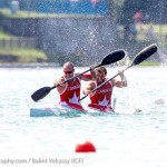 Ryan and Hugues during K2 200m at Worlds in Milan, Italy (Photo: Balint Vekassy)