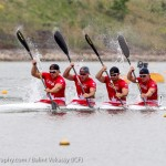 Ryan, Mark, Étienne and Alex Scott in K4 200m (Photo: Balint Vekassy)