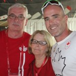 Father Kim, Mother Wendy and Ryan at Canada House (Photo: Doris Corbin)