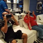 Ryan and father Kim playing some VR games