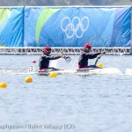 Ryan and Hughes in K2 200m at the Olympics (Photo: Balint Vekassy)